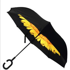 🆕 House of Reign Yellow Flower Inverted Umbrella